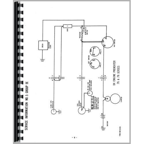 deutz allis d13006 tractor wiring diagram service