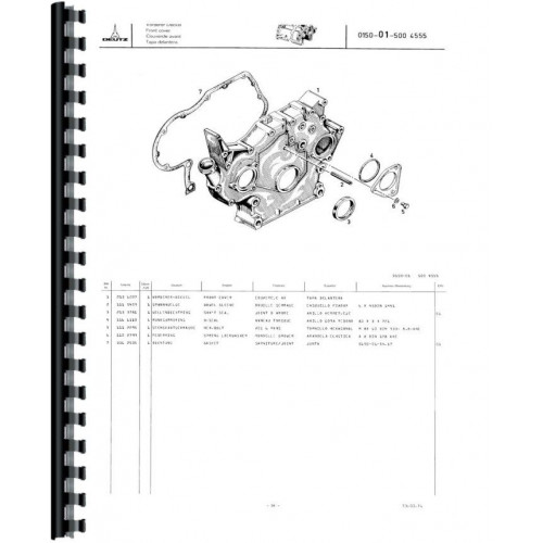 Deutz (Allis) D4006 Tractor Parts Manual (Sn 7871/3488 & Up)