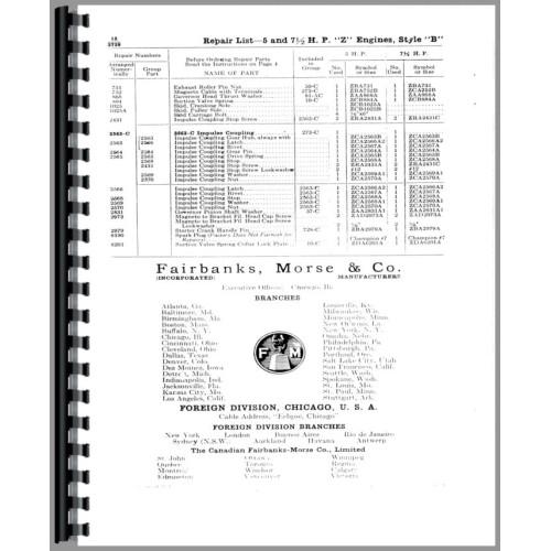 Fairbanks Morse Type Z Hit & Miss Engine Operators Manual