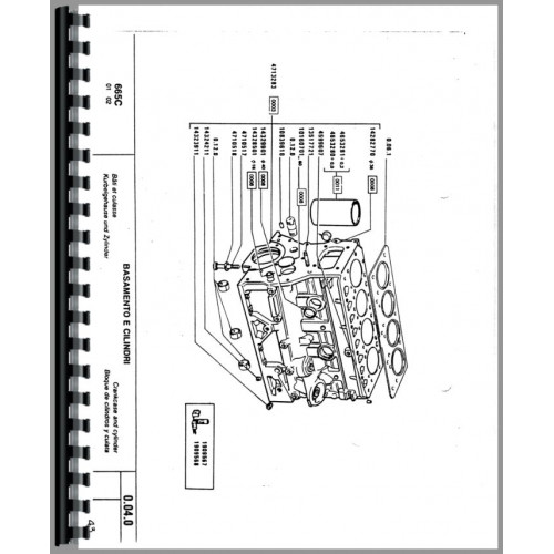 Hesston 665C Crawler Parts Manual