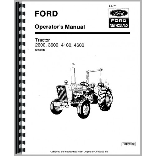 Ford 3600 Tractor Operators Manual (1975-1981)