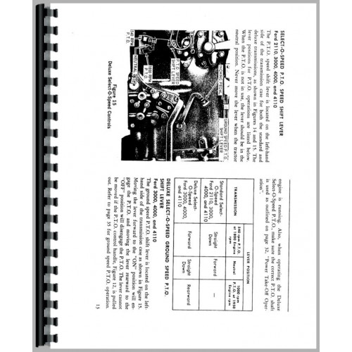 Ford 3000 Tractor Operators Manual (1965-1967)