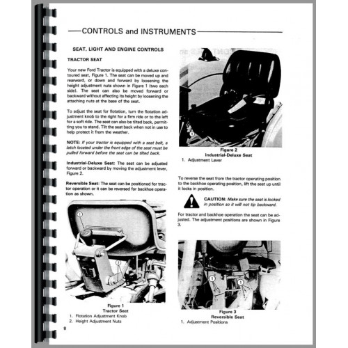 Ford 445 Industrial Tractor Operators Manual (Industrial)