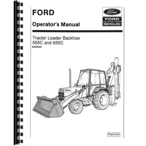 Ford 555C Tractor Loader Backhoe Operators Manual