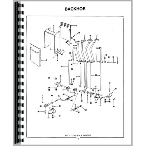 Ford 753 Backhoe Attachment Parts Manual