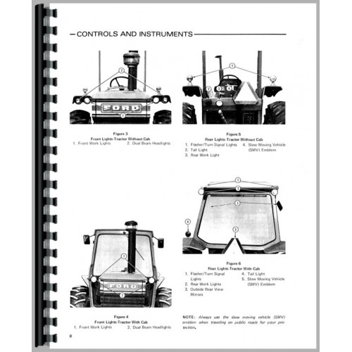 Ford 7700 Tractor Operators Manual