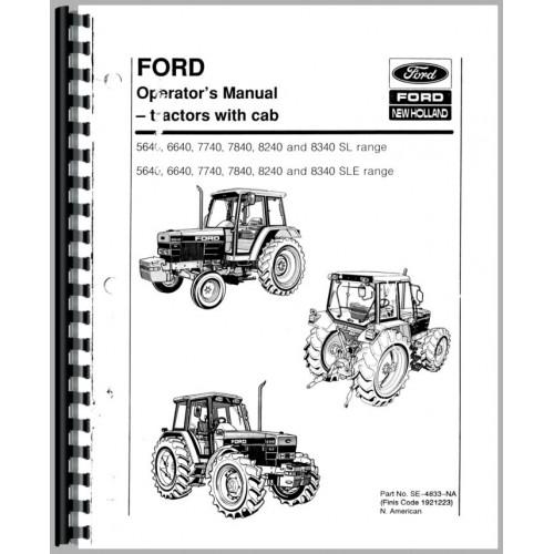 Ford 5640 Tractor Operators Manual (2&4 WD and Transmission)
