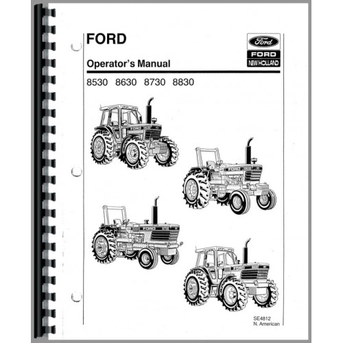 Ford 8530 Tractor Operators Manual