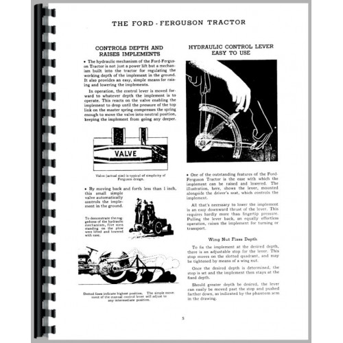 Ford 9N Tractor Operators Manual