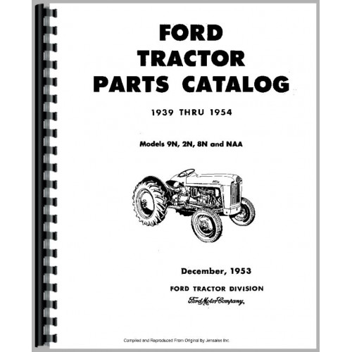 Ford 8N Tractor Parts Manual (1947-1952)