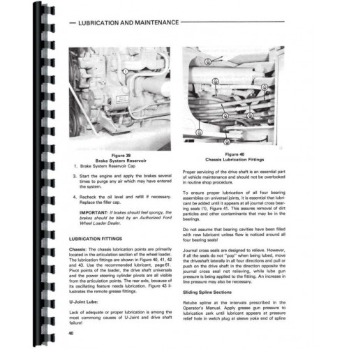 Ford A66 Wheel Loader Operators Manual