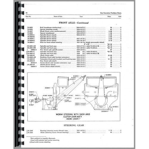 Ford Fordson Tractor Parts Manual (1917-1928)