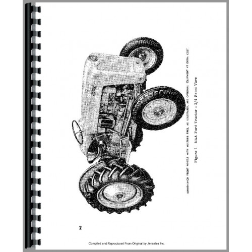 Ford NAA Tractor Operators Manual