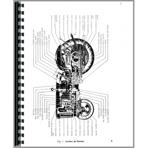 Ford New Major Tractor Operators Manual (1953-1958)