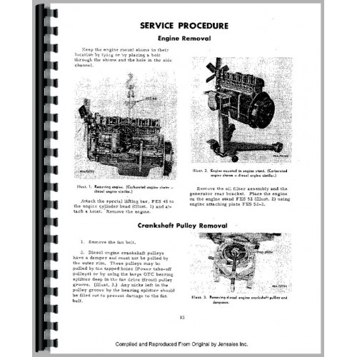 International Harvester TD9B Crawler Engine Service Manual