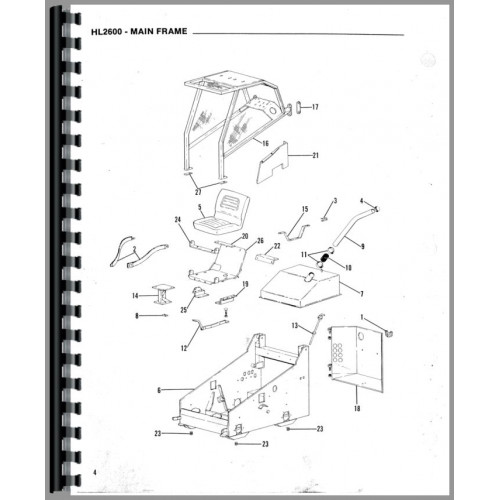 Gehl HL2600 Skid Steer Loader Parts Manual