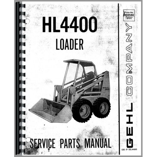 Gehl HL4400 Skid Steer Loader Parts Manual