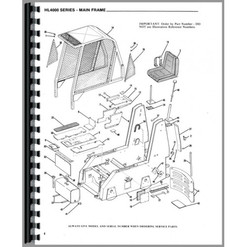 Gehl HL4500 Skid Steer Loader Parts Manual
