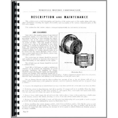 Hercules Engines QXD-3 Engine Service Manual