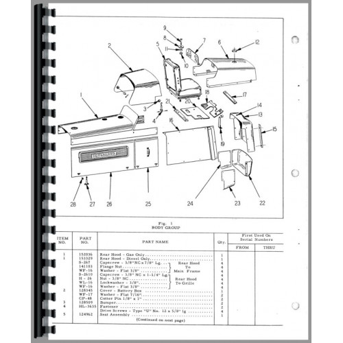Hough H-50 Pay Loader Parts Manual (Chassis)