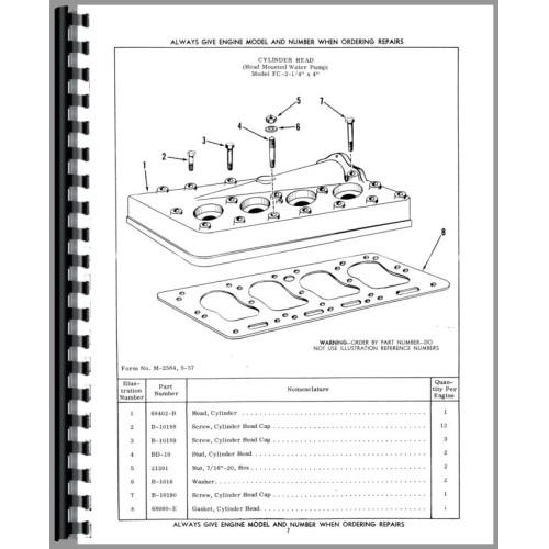 Hough HA Pay Loader Waukesha Engine Parts Manual