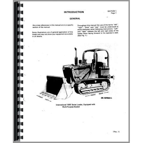 International Harvester 100E Crawler Operators Manual (SN