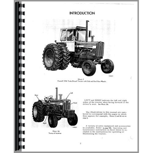 Farmall 1256 Tractor Operators Manual