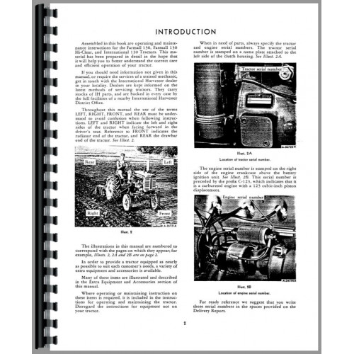 Farmall 130 Tractor Operators Manual