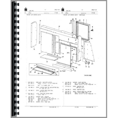 International Harvester 1440 Combine Parts Manual (All SN