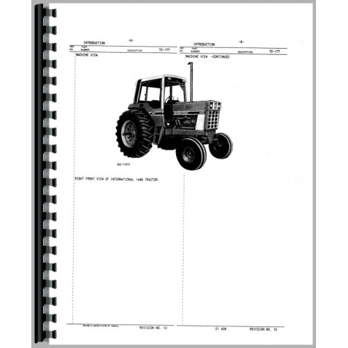 Farmall 1486 Tractor Parts Manual (Chassis)