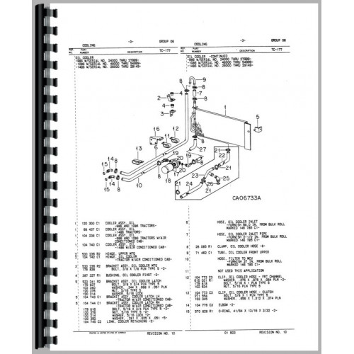International Harvester 986 Tractor Parts Manual (Chassis)