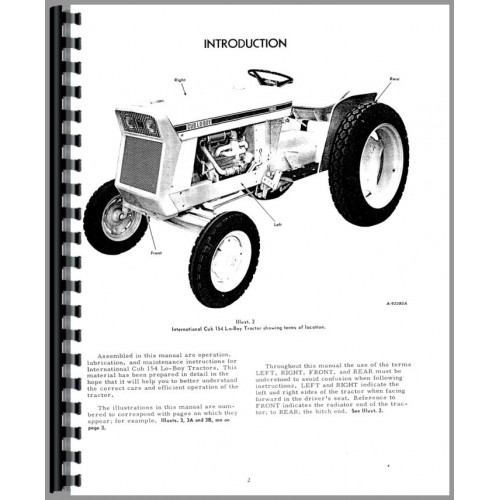 International Harvester Cub 154 Lo-Boy Tractor Operators