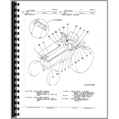 International Harvester 274 Tractor Parts Manual