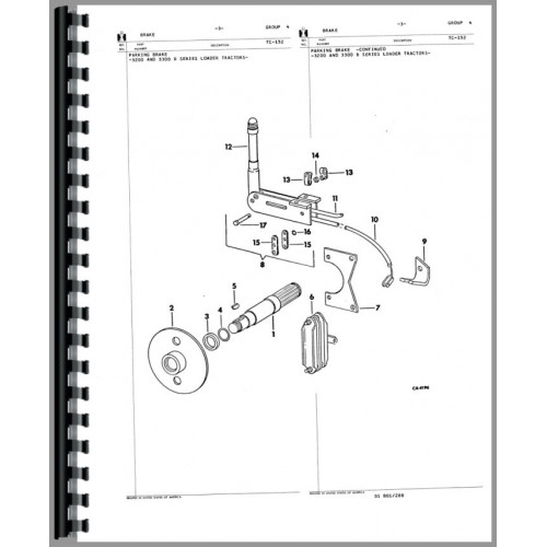 International Harvester 3200B Skid Steer Parts Manual