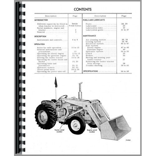 International Harvester 3414 Industrial Tractor Operators