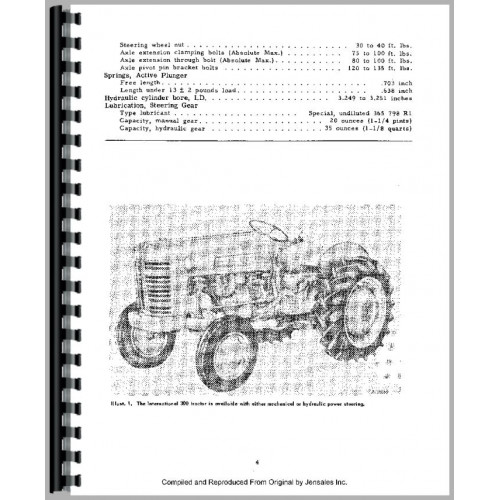 Farmall 350 Tractor Service Manual (all years, all sn
