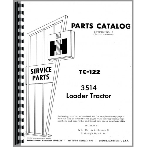 International Harvester 3514 Industrial Tractor Parts