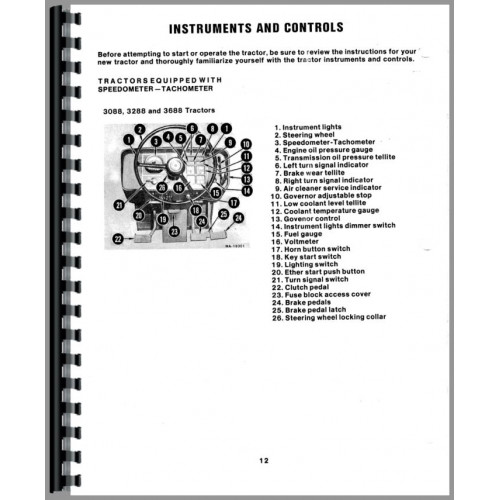 International Harvester 3088 Tractor Operators Manual