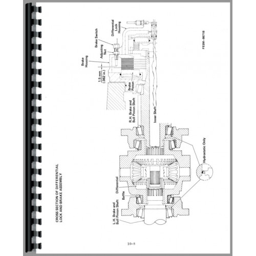 International Harvester 3688 Tractor Service Manual (Chassis)