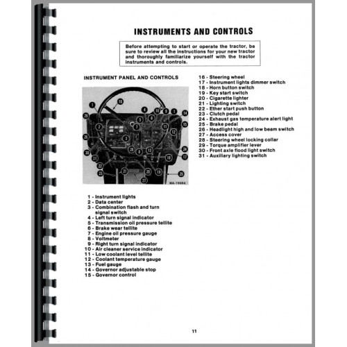 International Harvester 3388 Tractor Operators Manual