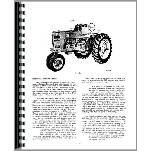 Farmall 400 Tractor Operators Manual