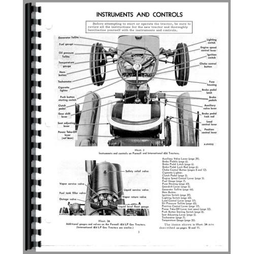 Farmall 404 Tractor Operators Manual