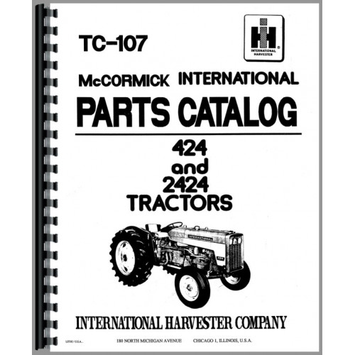 International Harvester 424 Tractor Parts Manual