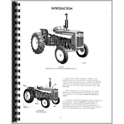 International Harvester 444 Tractor Operators Manual (Gas