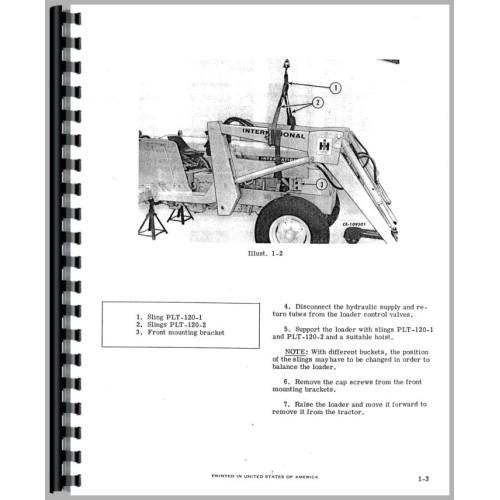 International Harvester 2500 Industrial Tractor Service