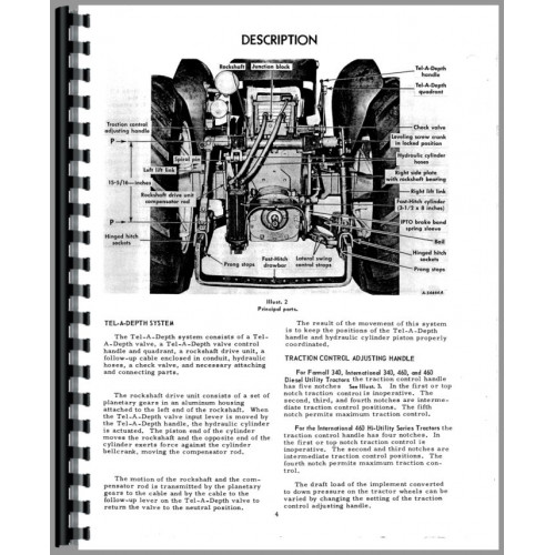 Farmall 460 Tractor 2 Point Hitch Operators Manual (Utility Operation and Adjustment)