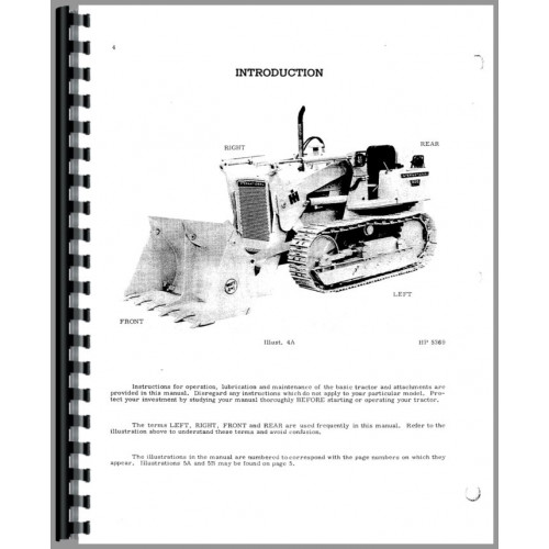International Harvester 500C Crawler Operators Manual