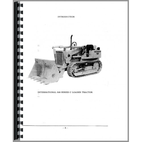 International Harvester 500C Crawler Parts Manual