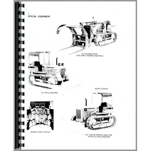 International Harvester 500E Crawler Operators Manual