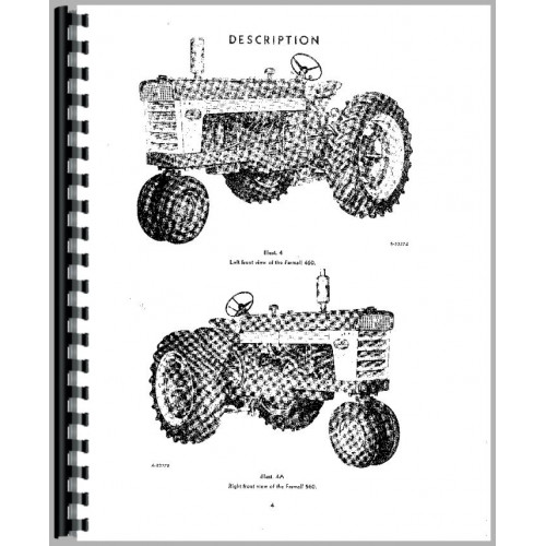 Farmall 460 Tractor Operators Manual (1958-1963) (Row Crop)